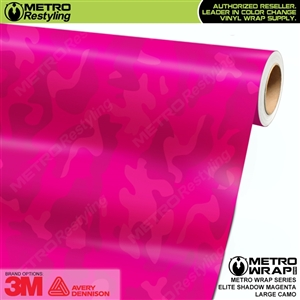 Elite Shadow Magenta Large Camouflage Vinyl Car Wrap Film