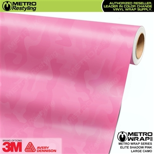 Elite Shadow Pink Large Camouflage Vinyl Car Wrap Film