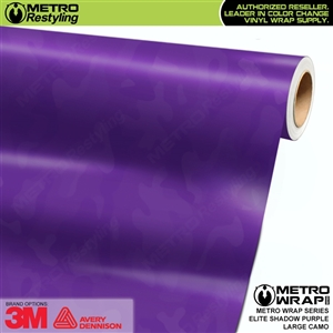 Elite Shadow Purple Large Camouflage Vinyl Car Wrap Film