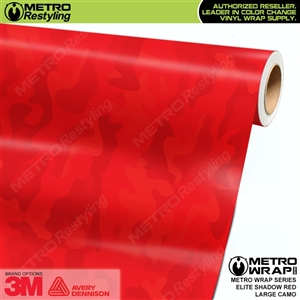 Elite Shadow Red Large Camouflage Vinyl Vehicle Wrap Film