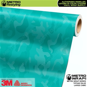 Elite Shadow Tiffany Blue Large Camouflage Vinyl Car Wrap Film