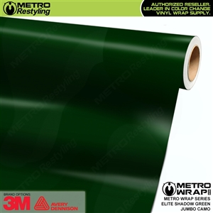 Elite Shadow Green Jumbo Camouflage Vinyl Vehicle Wrap Film