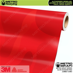 Elite Shadow Red Jumbo Camouflage Vinyl Car Wrap Film