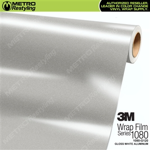 3M 1080 G120 Scotchprint Gloss White Aluminum Vinyl Wrap