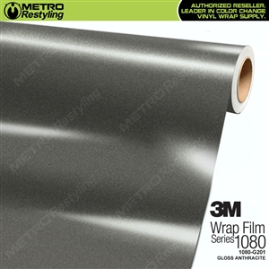 3M 1080 G201 Gloss Anthracite vinyl car wrapping film