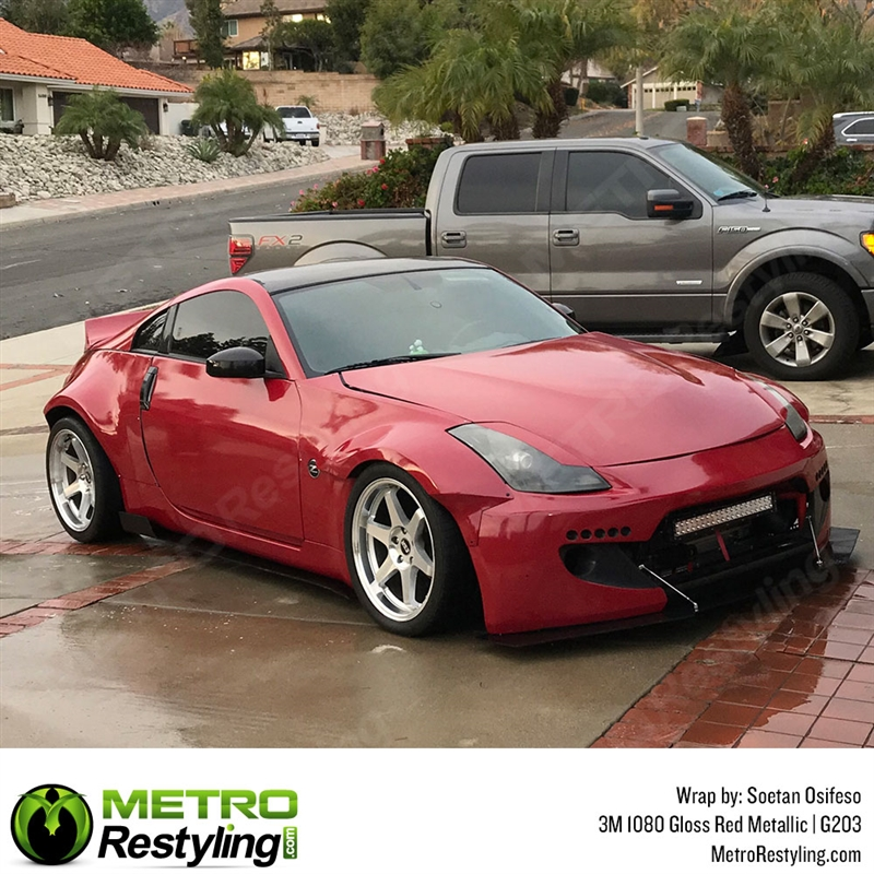 3m 1080 G203 Gloss Red Metallic Car Wrap Vinyl Is A Great Way To
