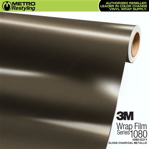3M 1080 G211 Scotchprint Gloss Charcoal MetallicVinyl Wrap