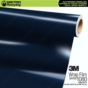 3M 1080 G217 Gloss Deep Blue Metallic vinyl wrap