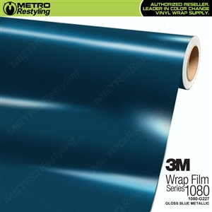 3M 1080 G227 Gloss Blue Metallic vinyl wrap