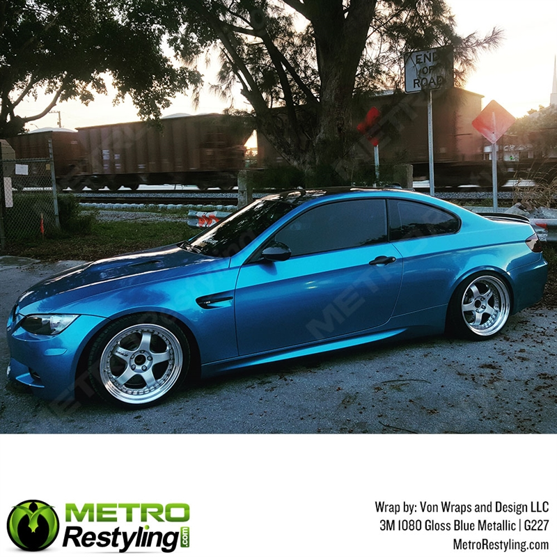 3m 1080 G227 Gloss Blue Metallic Car Wrap Vinyl Is A Great Way To