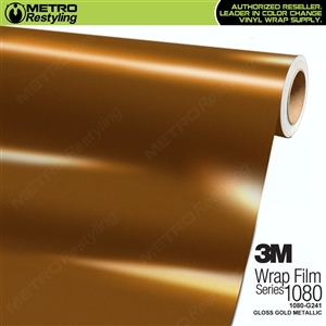 3M 1080 G241 Gloss Gold Metallic vinyl wrap