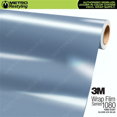 3M 1080 G247 Gloss Ice Blue vinyl wrap