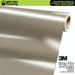 3M 1080 G31 Gloss Storm Gray vinyl car wrapping film