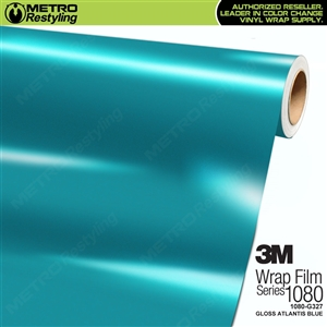 3M 1080 G327 Scotchprint Gloss Atlantis Blue Vinyl Wrap
