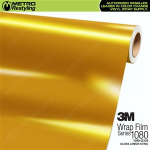 3M 1080 G335 Gloss Lemon Sting vinyl car wrapping film
