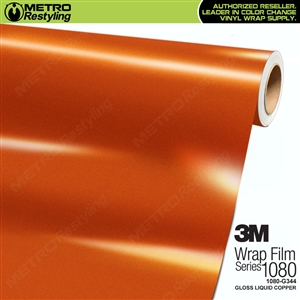 3M 1080 G344 Scotchprint Gloss Liquid Copper Vinyl Wrap