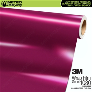 3M 1080 G348 Gloss Fierce Fuchsia vinyl car wrapping film