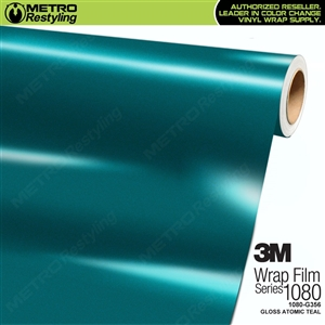 3M 1080 G356 Gloss Atomic Teal vinyl car wrapping film