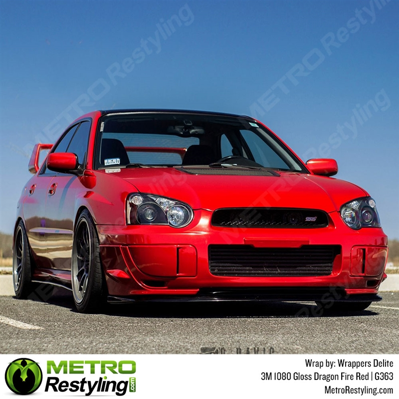 3m 1080 G363 Gloss Dragon Fire Red Car Wrap Vinyl Is A Great Way To