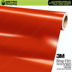 3M 1080 G364 Gloss Fiery Orange vinyl car wrapping film