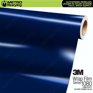 3M 1080 G377 Gloss Cosmic Blue vinyl car wrapping film