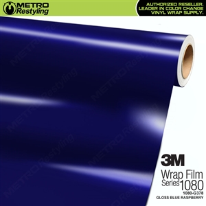 3M 1080 G378 Gloss Blue Raspberry vinyl car wrapping film