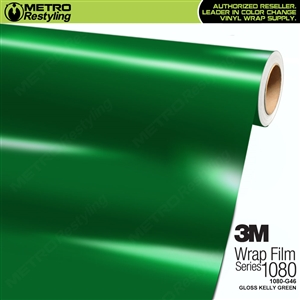 3M 1080 G46 Gloss Kelly Green vinyl car wrapping film