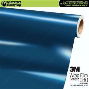 3M 1080 G47 Gloss Intense Blue vinyl car wrapping film