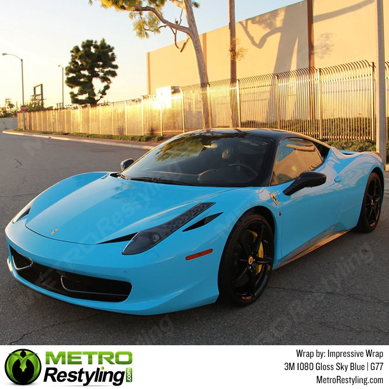 3M 1080 G77 Gloss Sky Blue Car Wrap Vinyl Is A Great Way