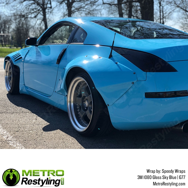 3m 1080 G77 Gloss Sky Blue Car Wrap Vinyl Is A Great Way To Change