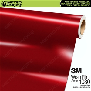 3M 1080 GP243 Gloss Lipstick vinyl car wrapping film