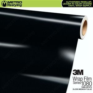 3M 1080 GP272 Gloss Midnight Blue vinyl car wrapping film