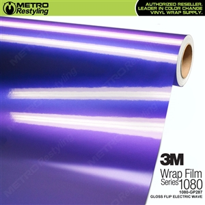 3M 1080 GP287 Gloss Flip Electric Wave vinyl vehicle wrap film