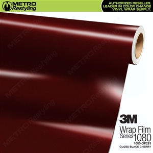 3M 1080 GP293 Gloss Black Cherry vinyl car wrapping film