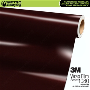 3M 1080 GP99 Gloss Black Rose vinyl car wrapping film