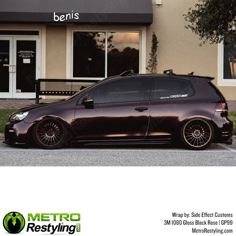 3m 1080 Gp99 Gloss Black Rose Car Wrap Vinyl Is A Great Way To