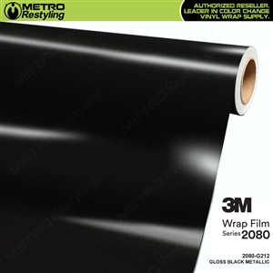 3m gloss metallic black vinyl