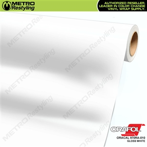 ORACAL Series 970RA High Gloss White Vinyl Wrap Film W/Rapid Air