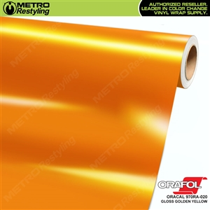 ORACAL Series 970RA High Gloss Golden Vinyl Wrap Film W/Rapid Air