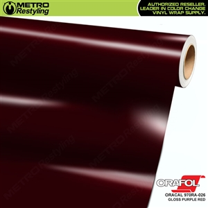 ORACAL 970RA-026 Gloss Purple Red Premium Vinyl Auto Wrap