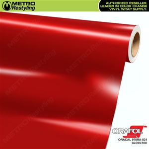 ORACAL 970RA-031 Gloss Red Premium Vinyl Auto Wrap