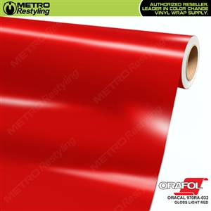 ORACAL 970RA-032 Gloss Light Red Premium Vinyl Auto Wrap