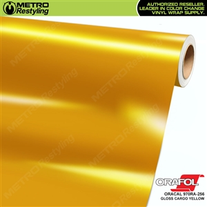 ORACAL Series 970RA Glossy Cargo Yellow Vinyl Wrap Film W/Rapid Air