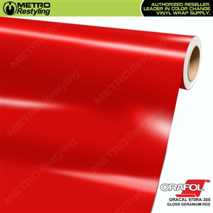 ORACAL Series 970RA Glossy Geranium Red Vinyl Wrap Film W/Rapid Air