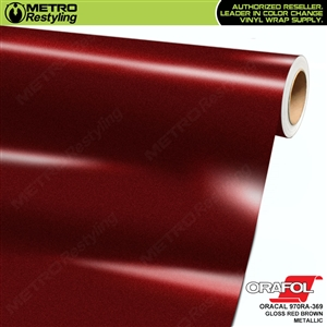 ORACAL 970RA-369 Gloss Red Brown Metallic Premium Vinyl Auto Wrap