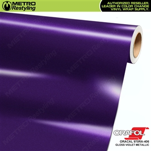 ORACAL 970RA-406 Gloss Violet Metallic Premium Vinyl Auto Wrap
