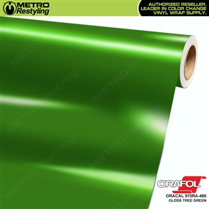 ORACAL Series 970RA Glossy Tree Green Vinyl Wrap Film W/Rapid Air