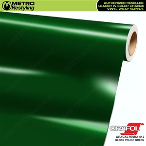 ORACAL Series 970RA Glossy Police Green Vinyl Wrap Film W/Rapid Air