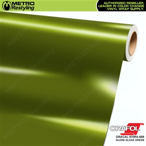 ORACAL Series 970RA Glossy Algae Green Vinyl Wrap Film W/Rapid Air
