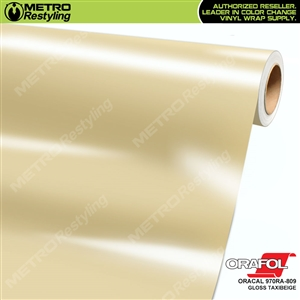 ORACAL 970RA-809 Gloss Taxibeige vinyl wrap film ideal for car wrapping.